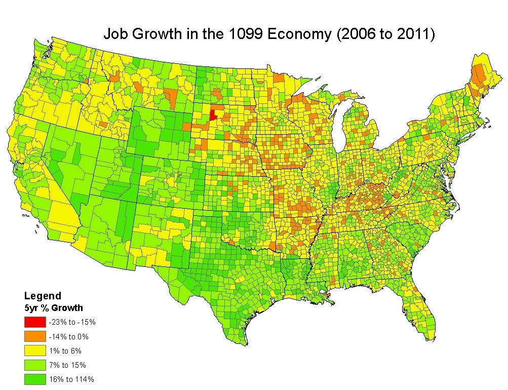The Spread of ProprietorsIndependent Contractors In the US Emsi